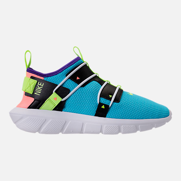 Right view of Men's Nike Vortak Casual Shoes in Lagoon Pulse/Volt Glow/Black