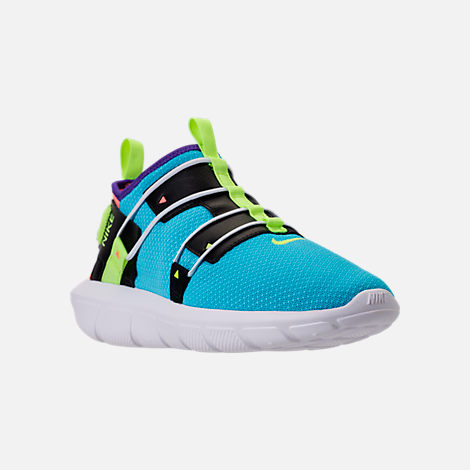 Three Quarter view of Men's Nike Vortak Casual Shoes in Lagoon Pulse/Volt Glow/Black