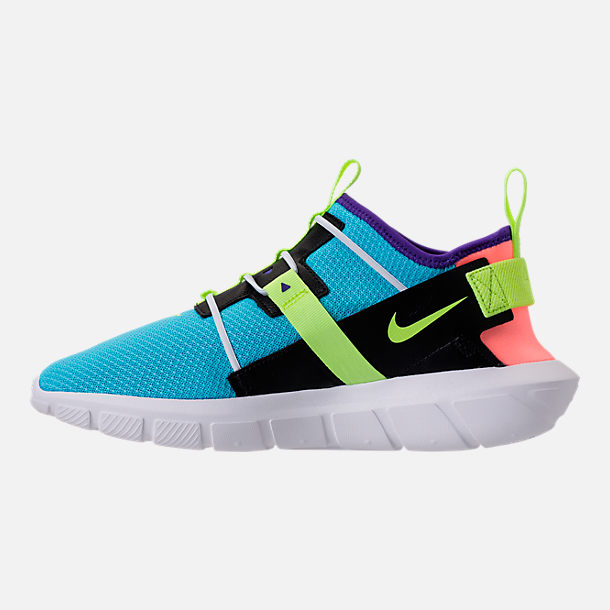 Left view of Men's Nike Vortak Casual Shoes in Lagoon Pulse/Volt Glow/Black