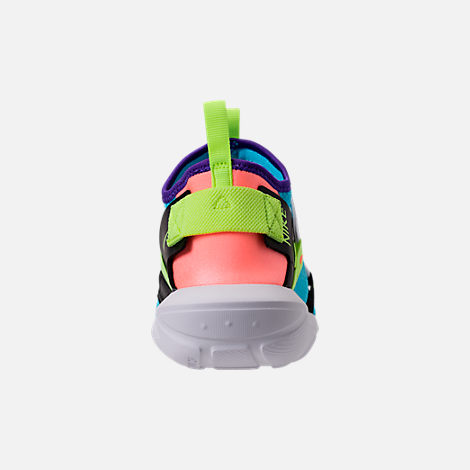 Back view of Men's Nike Vortak Casual Shoes in Lagoon Pulse/Volt Glow/Black