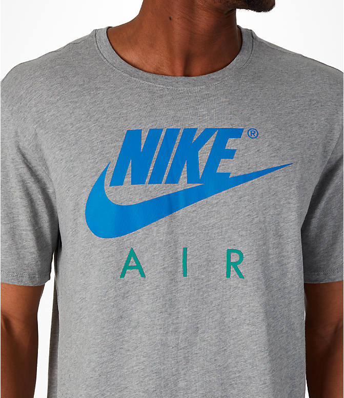 Detail 1 view of Men's Nike Sportswear Air Short-Sleeve T-Shirt in Dark Grey