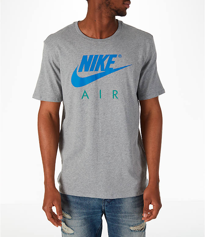 Front view of Men's Nike Sportswear Air Short-Sleeve T-Shirt in Dark Grey