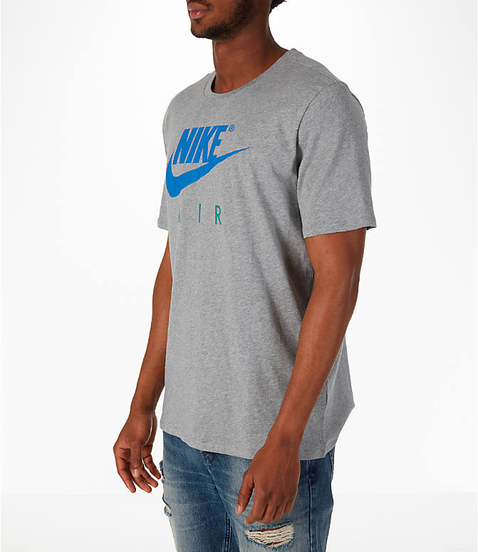 Front Three Quarter view of Men's Nike Sportswear Air Short-Sleeve T-Shirt in Dark Grey