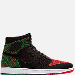 Men's Air Jordan 1 Retro High Flyknit BHM Basketball Shoes
