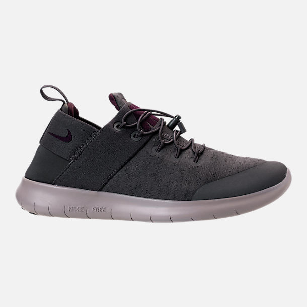 Right view of Men's Nike Free RN Commuter Premium 2017 Running Shoes in Midnight Fog/Port Wine/Cobblestone