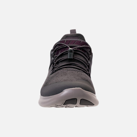 Front view of Men's Nike Free RN Commuter Premium 2017 Running Shoes in Midnight Fog/Port Wine/Cobblestone