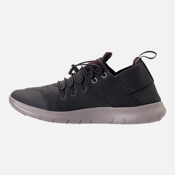 Left view of Men's Nike Free RN Commuter Premium 2017 Running Shoes in Midnight Fog/Port Wine/Cobblestone