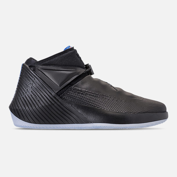 Right view of Men's Air Jordan Why Not Zer0.1 Basketball Shoes in Black/Pink Blast/Signal Blue