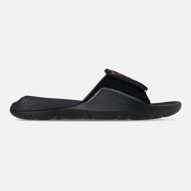 Right view of Men's Jordan Hydro 7 Slide Sandals in Black/Infrared 23