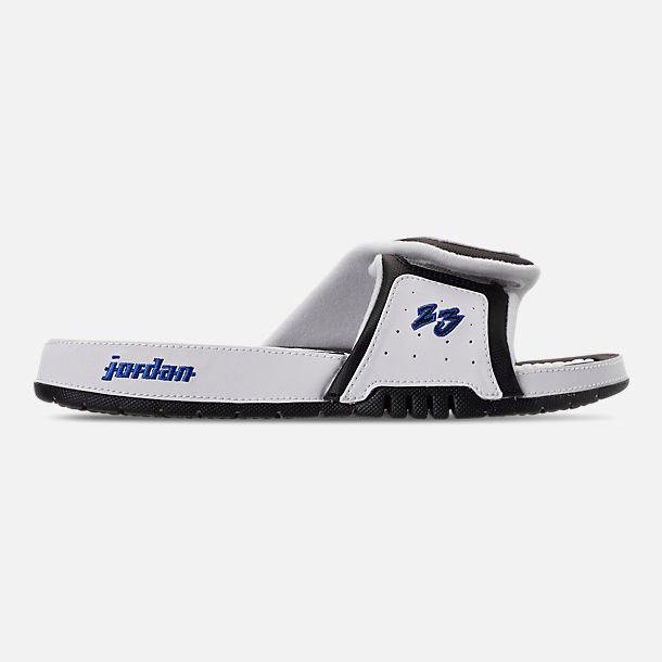 Right view of Men's Jordan Hydro X Retro Slide Sandals in White/Royal/Black