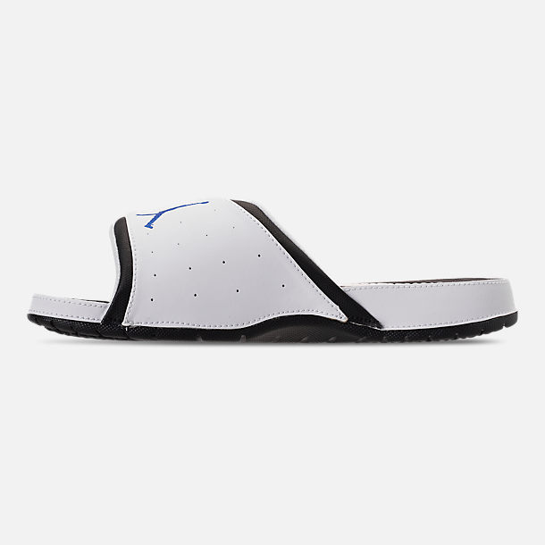 Left view of Men's Jordan Hydro X Retro Slide Sandals in White/Royal/Black