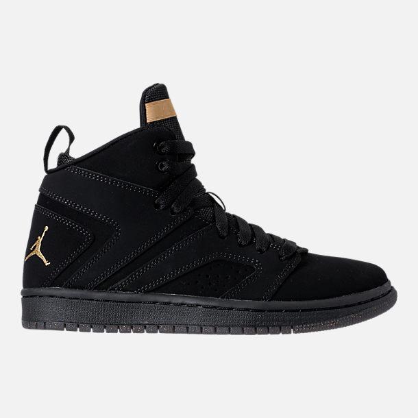 Right View Of Boys Grade School Air Jordan Flight Legend Basketball Shoes In Black