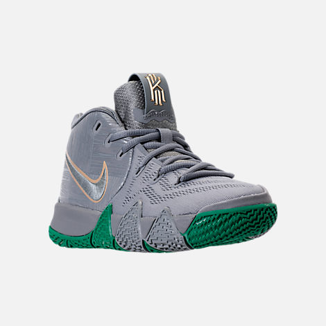 Three Quarter view of Boys' Grade School Nike Kyrie 4 Basketball Shoes in  City Edition