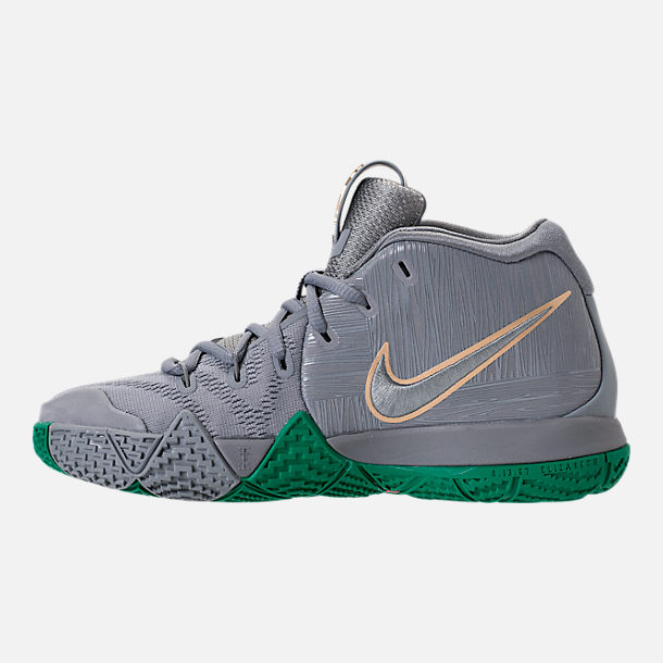 Left view of Boys' Grade School Nike Kyrie 4 Basketball Shoes in City Edition