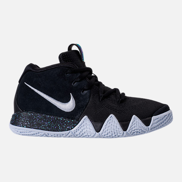 Right view of Boys' Preschool Nike Kyrie 4 Basketball Shoes in Black/White/Anthracite/Light Racer Blue