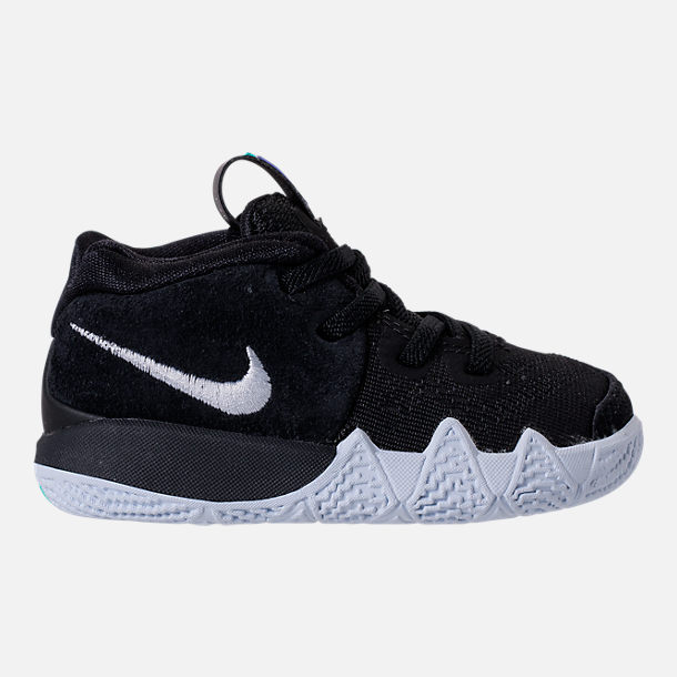 Right view of Boys' Toddler Nike Kyrie 4 Basketball Shoes in Black/White/Anthracite/Light Racer Blue