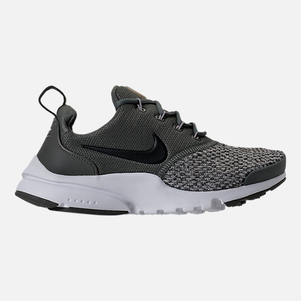 Right view of Boys' Grade School Nike Presto Fly SE Casual Shoes in River Rock/Black/Cobblestone
