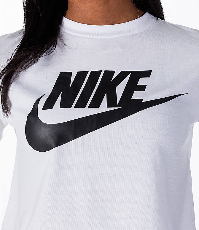 Detail 1 view of Women's Nike Sportswear Essential Crop T-Shirt in White/Black