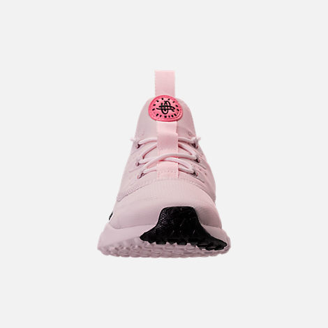 Front view of Girls' Preschool Nike Huarache Drift Casual Shoes in Barely Rose/Coral Chalk/White
