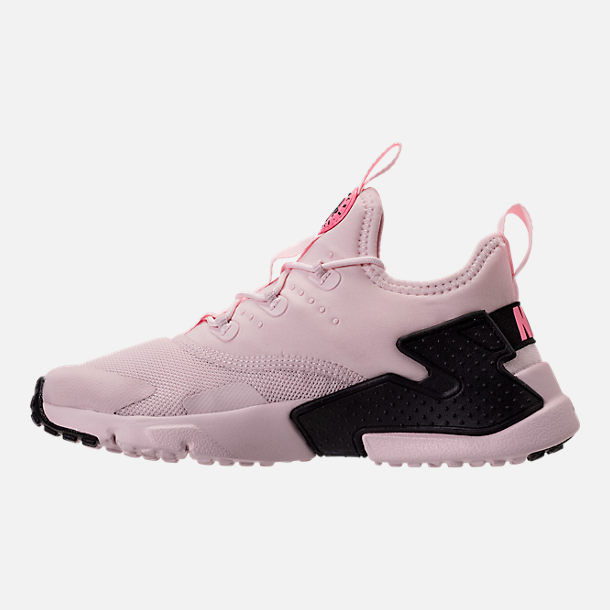 Left view of Girls' Preschool Nike Huarache Drift Casual Shoes in Barely Rose/Coral Chalk/White