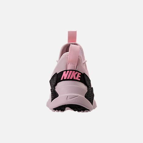 Back view of Girls' Preschool Nike Huarache Drift Casual Shoes in Barely Rose/Coral Chalk/White