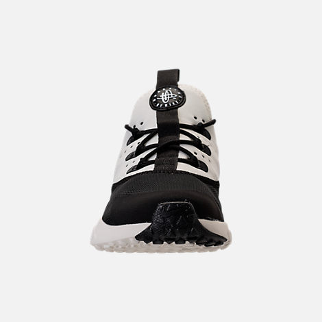 Front view of Boys' Preschool Nike Huarache Drift Casual Shoes in Black/Sail/White