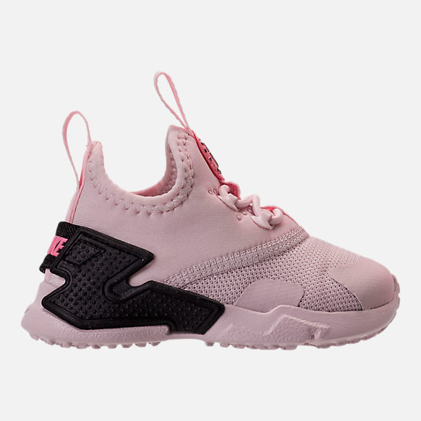 Right view of Girls' Toddler Nike Huarache Drift Casual Shoes in Barely Rose/Coral Chalk/White
