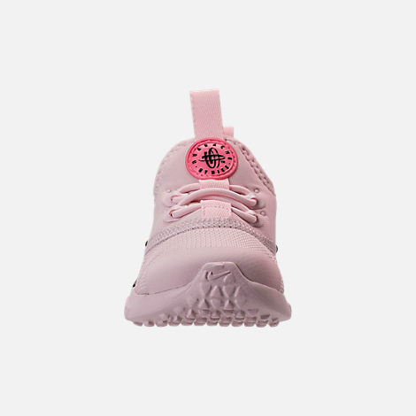 Front view of Girls' Toddler Nike Huarache Drift Casual Shoes in Barely Rose/Coral Chalk/White