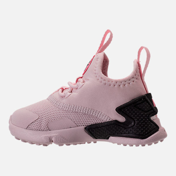 Left view of Girls' Toddler Nike Huarache Drift Casual Shoes in Barely Rose/Coral Chalk/White