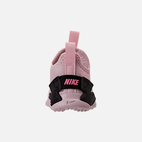 Back view of Girls' Toddler Nike Huarache Drift Casual Shoes in Barely Rose/Coral Chalk/White