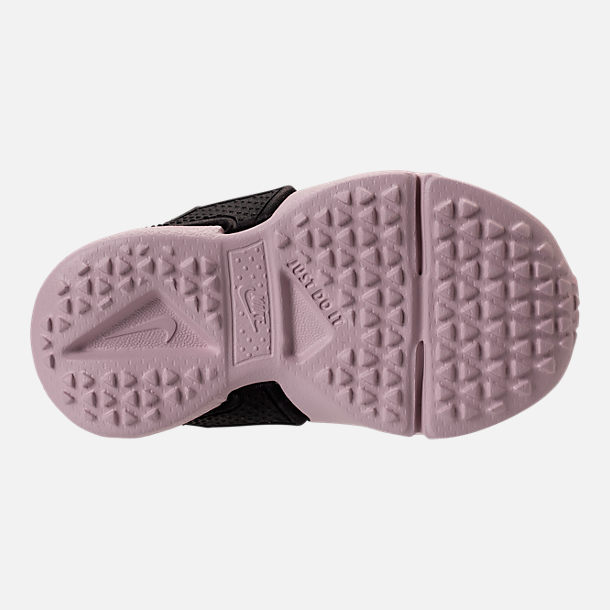 Bottom view of Girls' Toddler Nike Huarache Drift Casual Shoes in Barely Rose/Coral Chalk/White