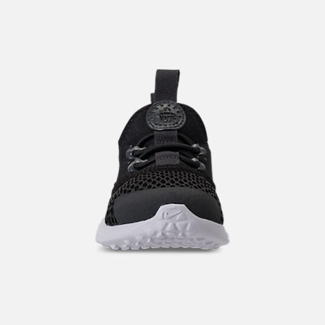 Front view of Boys' Toddler Nike Huarache Drift Casual Shoes in Black/Anthracite/White