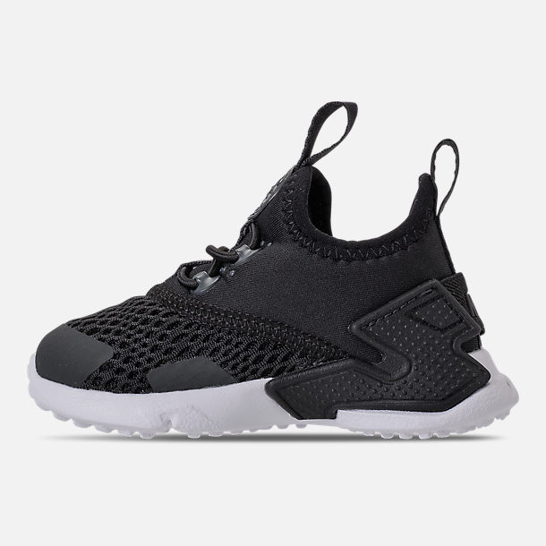 Left view of Boys' Toddler Nike Huarache Drift Casual Shoes in Black/Anthracite/White