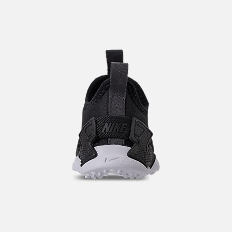Back view of Boys' Toddler Nike Huarache Drift Casual Shoes in Black/Anthracite/White