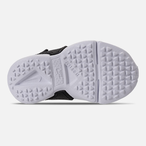 Bottom view of Boys' Toddler Nike Huarache Drift Casual Shoes in Black/Anthracite/White