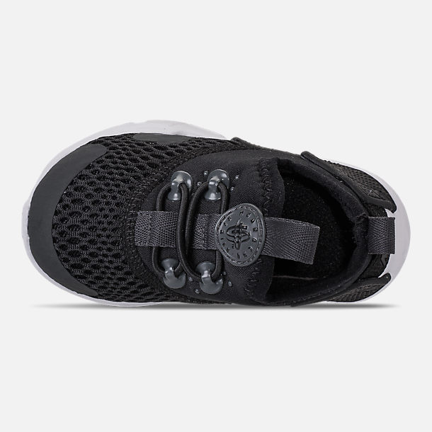 Top view of Boys' Toddler Nike Huarache Drift Casual Shoes in Black/Anthracite/White