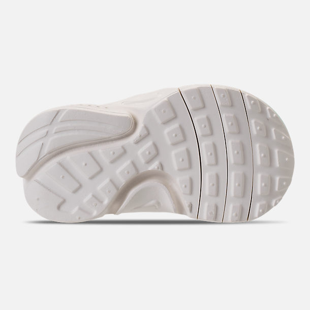 Bottom view of Girls' Toddler Nike Presto Extreme SE Running Shoes in Igloo/Sail