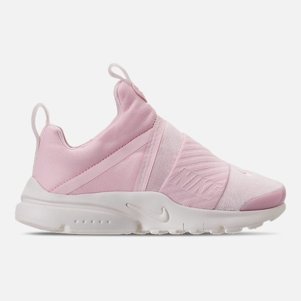 Right view of Girls' Preschool Nike Presto Extreme SE Running Shoes in Arctic Pink/Sail/Igloo
