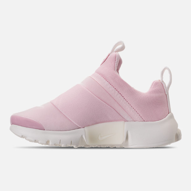 Left view of Girls' Preschool Nike Presto Extreme SE Running Shoes in Arctic Pink/Sail/Igloo