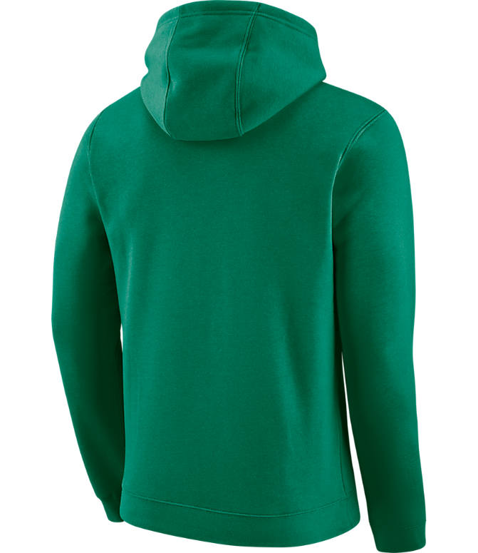 Back view of Men's Nike Boston Celtics NBA City Edition Logo Essential Hoodie in Clover