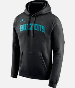 a8e2160f6ff Men s Nike Charlotte Hornets NBA City Edition Logo Essential Hoodie