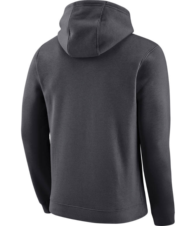 Back view of Men's Nike Dallas Mavericks NBA City Edition Logo Essential Hoodie in Anthracite