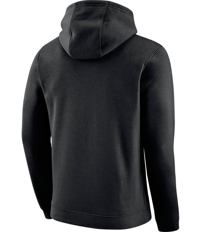 Back view of Men's Nike San Antonio Spurs NBA City Edition Logo Essential Hoodie in Black