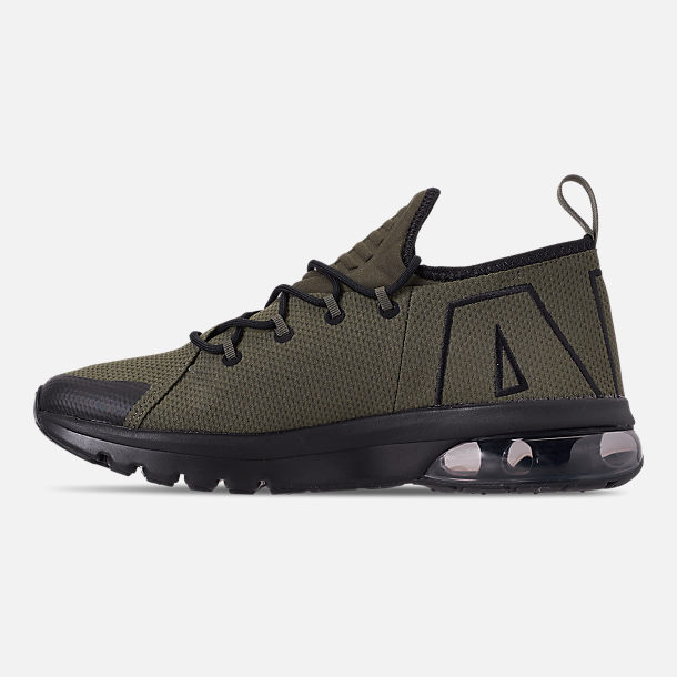 Left view of Men's Nike Air Max Flair 50 Running Shoes in Cargo Khaki/Black