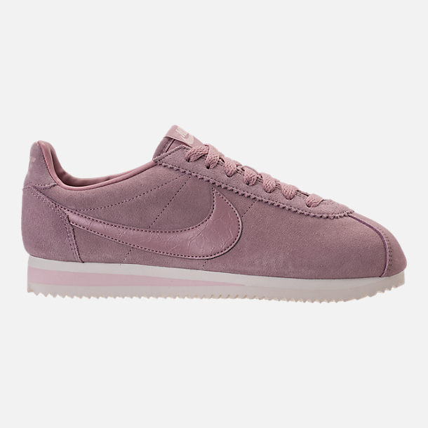 Right view of Women's Nike Classic Cortez Suede Casual Shoes in Elemental Rose/Sail
