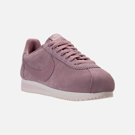 3643bba0c0d ... discount code for three quarter view of womens nike classic cortez suede  casual shoes in elemental