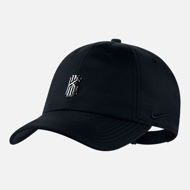 Front view of Nike Kyrie H86 AeroBill Adjustable Back Hat in Black/Grey