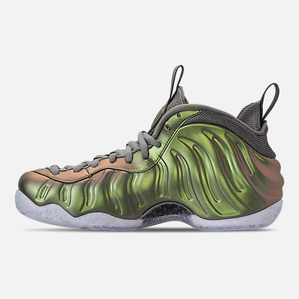 Left view of Women's Nike Air Foamposite 1 Casual Shoes in Dark Stucco/Dark Stucco/Black