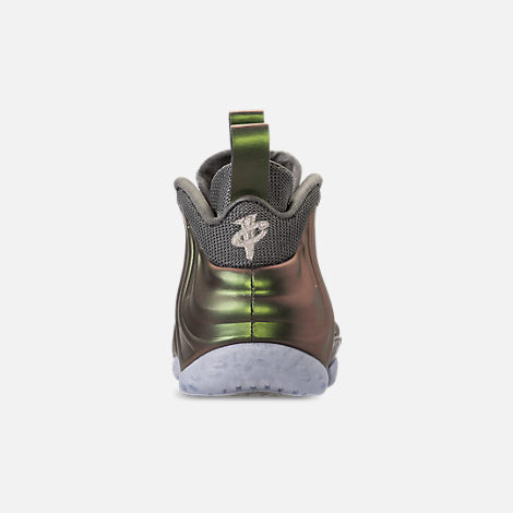 Back view of Women's Nike Air Foamposite 1 Casual Shoes in Dark Stucco/Dark Stucco/Black