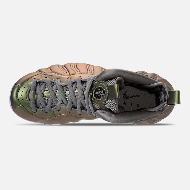 Top view of Women's Nike Air Foamposite 1 Casual Shoes in Dark Stucco/Dark Stucco/Black